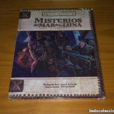 Juegos Antiguos: MISTERIOS DEL MAR DE LA LUNA REINOS OLVIDADOS D&D 3.5 DUNGEONS AND DRAGONS ROL DEVIR PRECINTADO. Lote 295682333