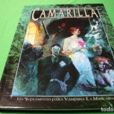 Juegos Antiguos: LIBRO DE ROL: VAMPIRO LA MASCARADA. LA GUÍA DE LA CAMARILLA (LA FACTORÍA). Lote 295785863