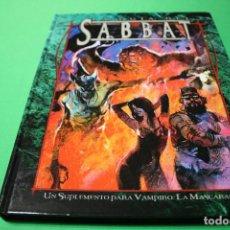 Juegos Antiguos: LIBRO DE ROL: VAMPIRO LA MASCARADA. LA GUÍA DEL SABBAT(LA FACTORÍA). Lote 295785978