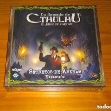 Juegos Antiguos: LA LLAMADA DE CTHULHU EL JUEGO DE CARTAS EXPANSIÓN SECRETOS DE ARKHAM LCG PRECINTADO. Lote 297122488