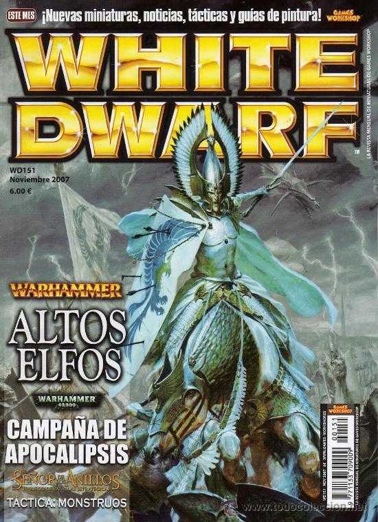 WHITE DWARF Nº 151 - NOVIEMBRE 2007 - REVISTA WARHAMMER (Juguetes - Rol y Estrategia - Warhammer)
