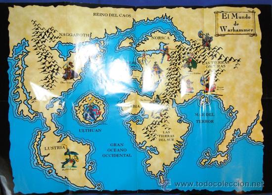 Juegos Antiguos: MAPA EL MUNDO DE WARHAMMER DE LA COLECCION ALTAYA - Foto 2 - 26606863