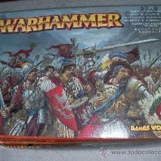 Juegos Antiguos: CAJA CON REGIMIENTO DE SOLDADOS ESQUELETO WARHAMMER. Lote 26182429