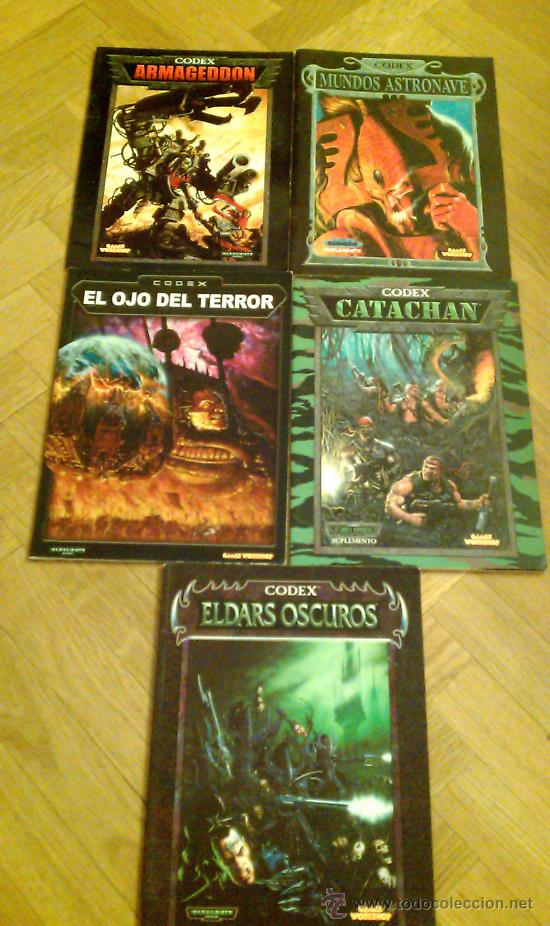 Lote warhammer 40000 codex 40k Armageddon Eldars Oscuros Catachan Mundos astronave ojo del terror segunda mano