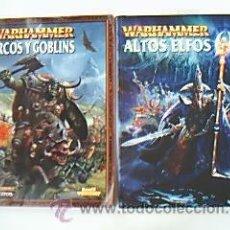 Juegos Antiguos: LOTE: WARHAMMER ORCOS Y GOBLINS – ALTOS ELFOS. EDITADO POR GAMES WORKSHOP. Lote 35997813