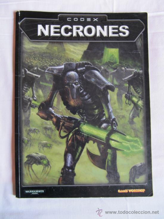 CODEX NECRONES - LIBRO GAMES WORKSHOP - WARHAMMER 40000 -, usado segunda mano
