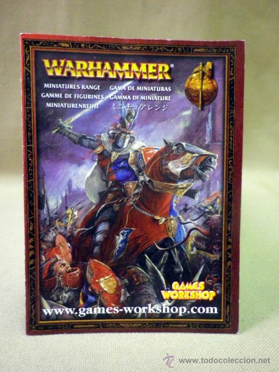 CATALOGO WARHAMMER. GAMA DE MINIATURAS. GAMES WORKSHOP (Juguetes - Rol y Estrategia - Warhammer)