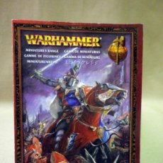 Juegos Antiguos: CATALOGO WARHAMMER. GAMA DE MINIATURAS. GAMES WORKSHOP. Lote 37422528