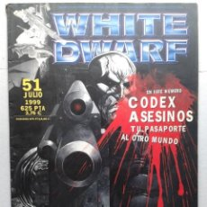 Juegos Antiguos: REVISTA MENSUAL .WHITE DWARF Nº 51- GAMES WORKSHOP WARHAMMER .JULIO 1999. Lote 37430142