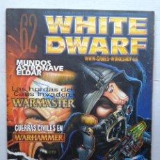 Juegos Antiguos: REVISTA MENSUAL .WHITE DWARF Nº 62- GAMES WORKSHOP WARHAMMER .JUNIO 2000. Lote 37430295