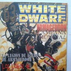 Juegos Antiguos: REVISTA MENSUAL .WHITE DWARF Nº 63- GAMES WORKSHOP WARHAMMER .JULIO 2000. Lote 37430330