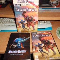 Juegos Antiguos: WARHAMMER BLOOD BOWL PC DVD EDICION ELFOS OSCUROS CON FANTASTICA GUIA ESTRATEGICA . Lote 40828216