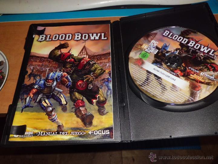 Juegos Antiguos: warhammer blood bowl pc dvd edicion elfos oscuros con fantastica guia estrategica - Foto 8 - 40828216