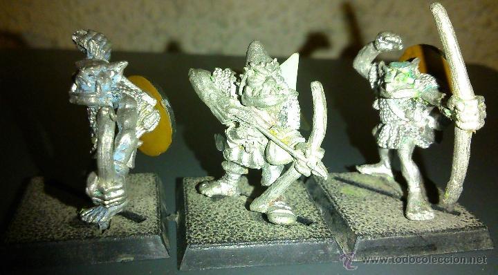 Miniaturas de plomo Arqueros orcos (lote2) (1987) Citadel Warhammer D&D Dungeons & Dragons, usado segunda mano