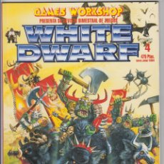 Jeux Anciens: REVISTA WHITE DWARF Nº 4 WARHAMMER GAMES WORKSHOP CITADEL (CON JUEGO WARMASTER). Lote 225608915