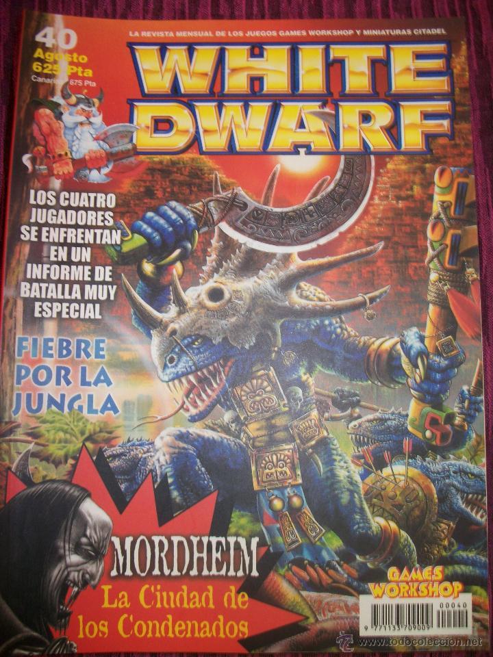 REVISTA WHITE DWARF #40 – WARHAMMER – EL SEÑOR DE LOS ANILLOS – BLOOD BOWL - (Juguetes - Rol y Estrategia - Warhammer)