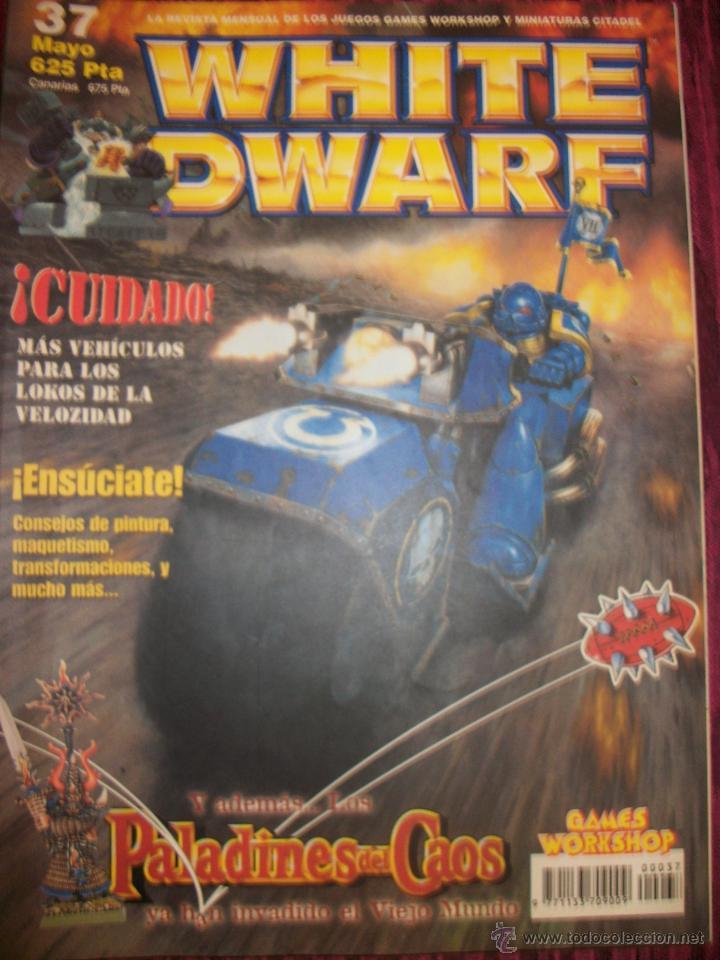 REVISTA WHITE DWARF #37 – WARHAMMER – EL SEÑOR DE LOS ANILLOS – BLOOD BOWL - (Juguetes - Rol y Estrategia - Warhammer)