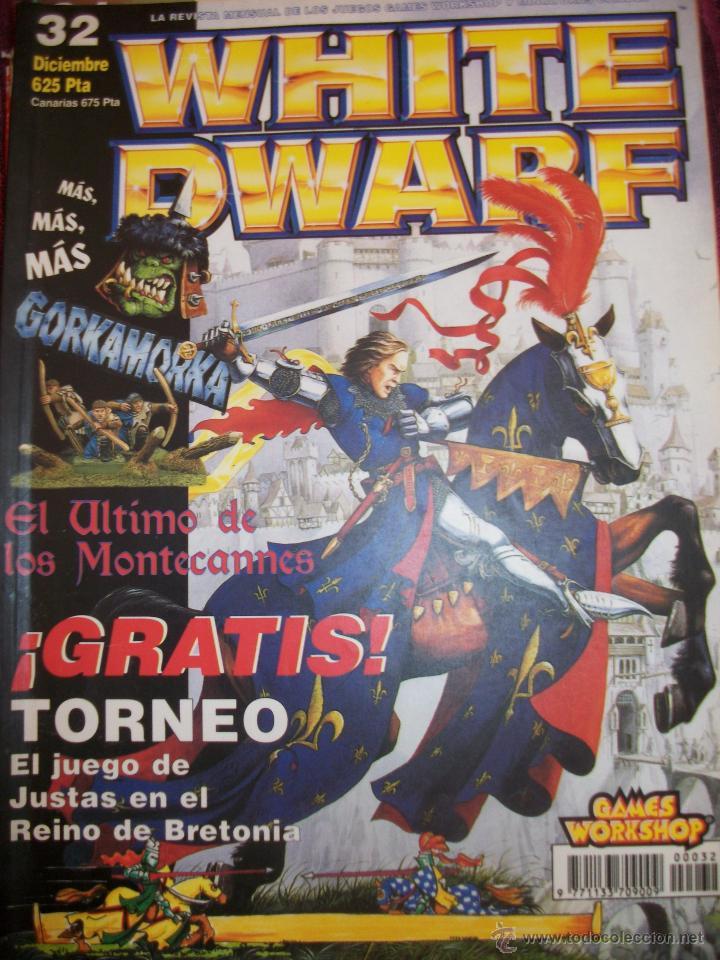 REVISTA WHITE DWARF #32 – WARHAMMER – EL SEÑOR DE LOS ANILLOS – BLOOD BOWL - (Juguetes - Rol y Estrategia - Warhammer)