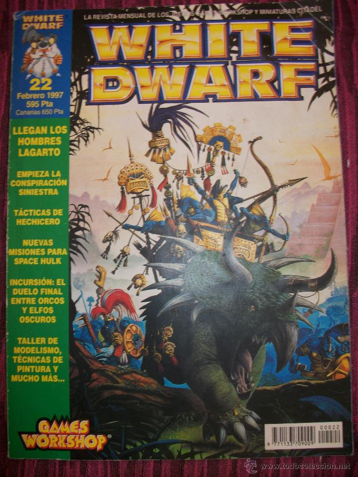 REVISTA WHITE DWARF #22 – WARHAMMER – EL SEÑOR DE LOS ANILLOS – BLOOD BOWL - (Juguetes - Rol y Estrategia - Warhammer)