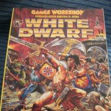 Juegos Antiguos: REVISTA WHITE DWARF #14 – WARHAMMER – EL SEÑOR DE LOS ANILLOS – BLOOD BOWL – SPACE HULK. Lote 42688439