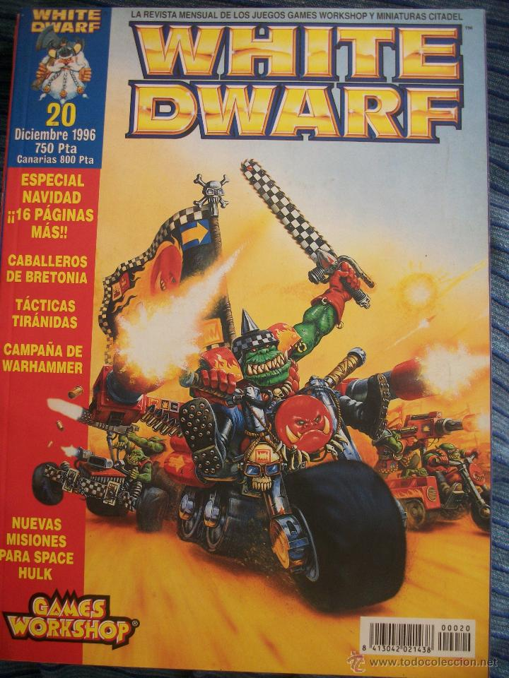REVISTA WHITE DWARF #20 – WARHAMMER – EL SEÑOR DE LOS ANILLOS – BLOOD BOWL – SPACE HULK (Juguetes - Rol y Estrategia - Warhammer)