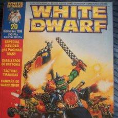 Juegos Antiguos: REVISTA WHITE DWARF #20 – WARHAMMER – EL SEÑOR DE LOS ANILLOS – BLOOD BOWL – SPACE HULK. Lote 42688444