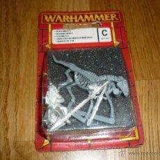 Juegos Antiguos: WARHAMMER CABALLEROS NO MUERTOS (ESQUELETOS) MONTADOS COMPLETO Y NUEVO CITADEL 2002. Lote 45594793
