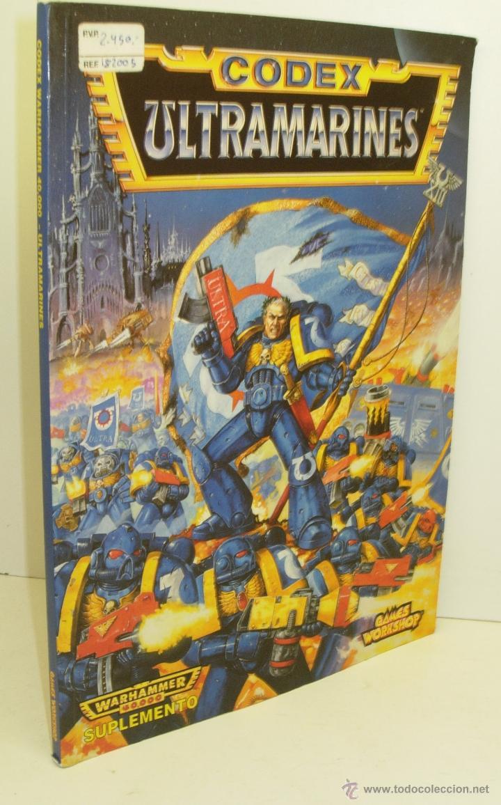 SUPLEMENTO WARHAMMER 40K CODEX ULTRAMARINES 96 PÁG., edición 1995 segunda mano