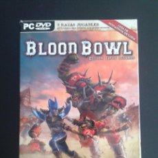 Juegos Antiguos: LOTE 253 - BLOOD BOWL EDICIÓN ELFOS OSCUROS WARHAMMER PC DVD. Lote 44159315