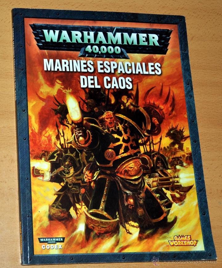 LIBRO WARHAMMER 40.000 - MARINES ESPACIALES DEL CAOS - CODEX - GAMES WORKSHOP - AÑO 2007 (Juguetes - Rol y Estrategia - Warhammer)