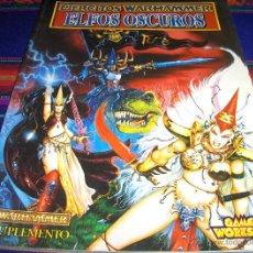 Juegos Antiguos: EJÉRCITOS WARHAMMER ELFOS OSCUROS SUPLEMENTO Y EJÉRCITOS DE REGALO. GAMES WORKSHOP. RARO.. Lote 47106559