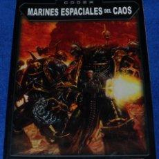 Juegos Antiguos: WARHAMMER 40.000 - CODEX MARINES ESPACIALES DEL CAOS (2002). Lote 47544845