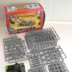 Juegos Antiguos: WARHAMMER REGIMIENTO GUERREROS SKAVEN. Lote 47652489
