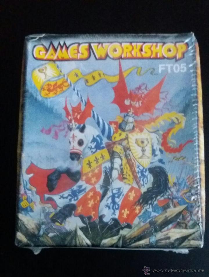 349 - GAMES WORKSHOP FT05 WARHAMMER KNIGHT CABALLERO Y ARQUEROS ARCHERS BOWMEN HEROQUEST segunda mano