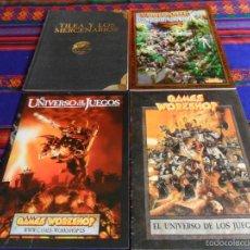 Juegos Antiguos: EL UNIVERSO DE LOS JUEGOS 1998 Y 2005, CONQUISTA NUEVO MUNDO, TILEA Y LOS MERCENARIOS GAMES WORKSHOP. Lote 55554017
