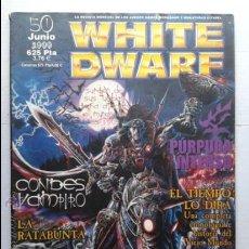 Juegos Antiguos: WHITE DWARF Nº 50 - GAMES WORKSHOP WARHAMMER .JUNIO 1999. Lote 37430107