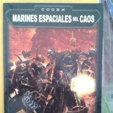 Jogos Antigos: CODEX MARINES ESPACIALES DEL CAOS. GAMES WORKSHOP WARHAMMER. Lote 56395002