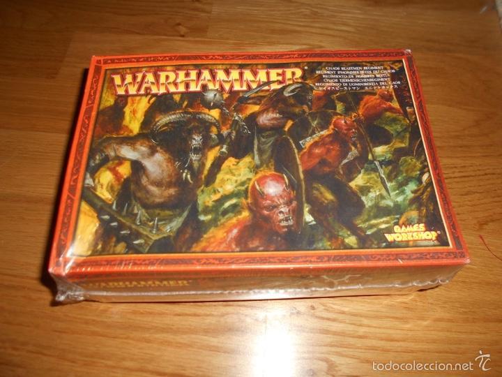 REGIMIENTO DE HOMBRES BESTIA - WARHAMMER 2000 2004 NUEVO PRECINTADO DE TIENDA MUY DIFICIL (Juguetes - Rol y Estrategia - Warhammer)