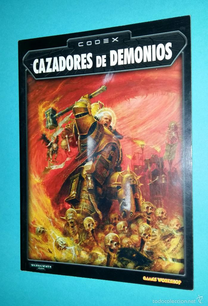 CAZADORES DE DEMONIOS. WARHAMMER 40000. CODEX. 40K. LIBRO EJÉRCITO., usado segunda mano