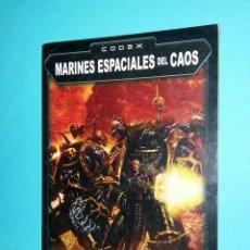 Juegos Antiguos: MARINES ESPACIALES DEL CAOS. WARHAMMER 40000. CODEX. 40K. LIBRO EJÉRCITO.. Lote 59690515