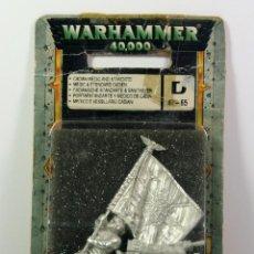 Juegos Antiguos: WARHAMMER 40K - PORTAESTANDARTE Y MEDICO DE CADIA - DESCATALOGADO 2003. Lote 75735507