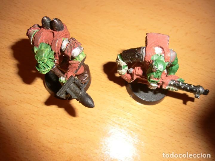 Juegos Antiguos: 2 orcos metal, warhammer 40k. - Foto 3 - 76549223