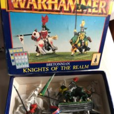 Juegos Antiguos: WARHAMMER KNIGHTS OF THE REALM 7 CABALLEROS BRETONIANOS CITADEL. Lote 90634318