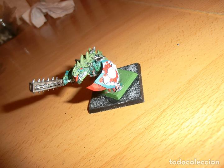 Juegos Antiguos: Jefe lagarto ,warhammer, metal - Foto 2 - 92243595