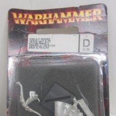 Juegos Antiguos: WARHAMMER FIGURA METAL HEROE ALTO ELFO - HIGH ELF HEROES. Lote 96625839