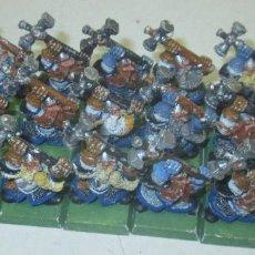Juegos Antiguos: WARHAMMER FIGURAS METAL, LOTE 21 ENANOS, HAMMERERS, DWARFS. Lote 102066311