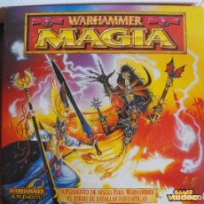 Juegos Antiguos: CAJA SUPLEMENTO DE MAGIA PARA WARHAMMER. LIBRO, CARTAS Y COMPLEMENTOS. COMPLETO. Lote 102095231