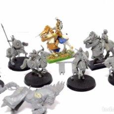 Juegos Antiguos: LOTE WARHAMMER FIGURAS GAMES WORKSHOP PLASTICO CABALLOS Y CABALLEROS. Lote 105830431