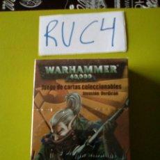 Juegos Antiguos: WARHAMMER 40000 PRECINTADO JUEGO DE CARTAS COLECCIONABLES INVASIÓN VERDICON. Lote 107559680