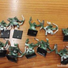 Juegos Antiguos: WARHAMMERARQUEROS ORCOS 10 UNIDADES. Lote 107647579